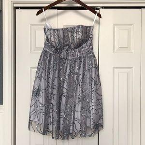 Strapless shirt prom/winterball dress